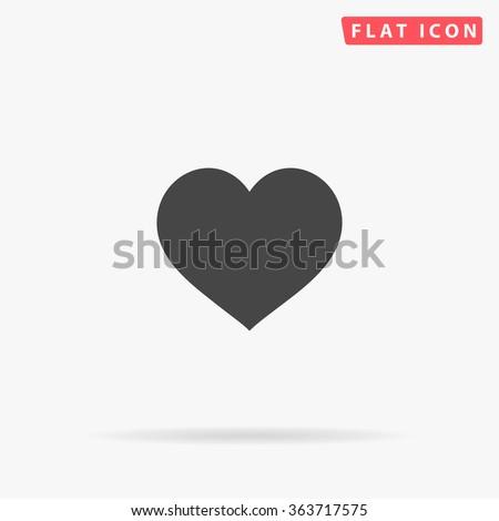 Heart Icon Vector Perfect Love Symbol Stockvector 363717575