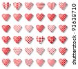 Heart icons for valentine card. 36 design elements. Vector art. - stock photo