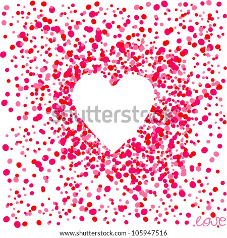 heart in a red back - stock vector