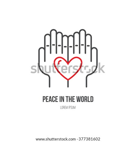 Heart Hands Symbols Nonprofit Organization Fundraising Stock Vector
