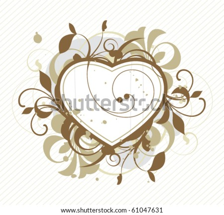 Heart is decorated design elements - stock vector