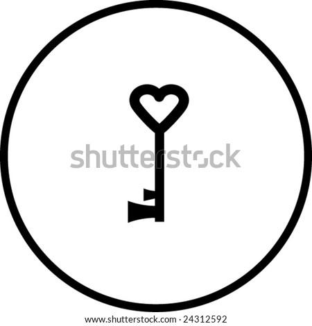Heart Key Symbol Stock Vector 24312592 Shutterstock