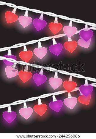 Heart Lights - stock vector