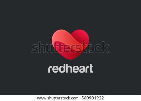 heart logo design vector template st stock vector royalty free