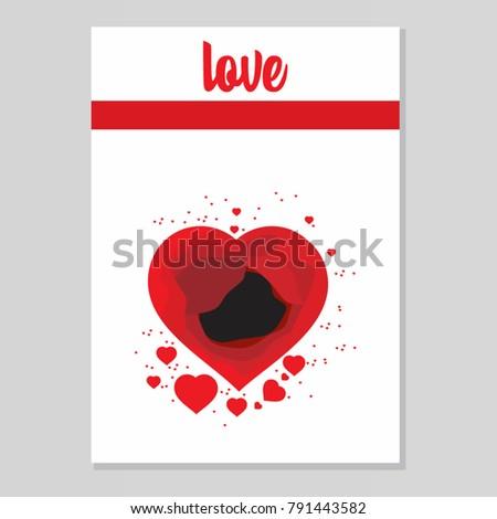Heart love invitation valentine card love stock vector 791443582 heart love invitation valentine card love hearts vector stopboris Image collections