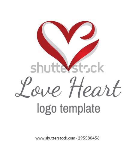 Heart love vector logo design template. Happy Valentines day concept icon. - stock vector