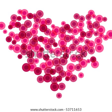 Heart made of blood cells, vector illustration - stock vector
