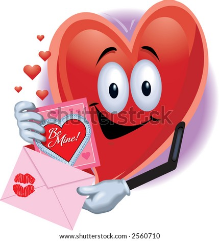 Heart Man with Valentine Card