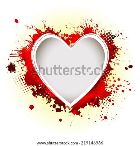 heart of the ink spots. Vector - stock vector