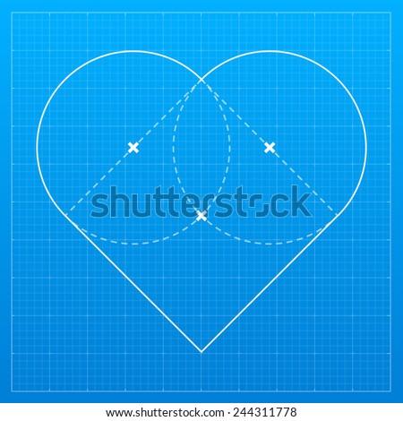 Heart on blueprint paper valentines day stock vector 244311778 heart on blueprint paper valentines day stock vector 244311778 shutterstock malvernweather Gallery