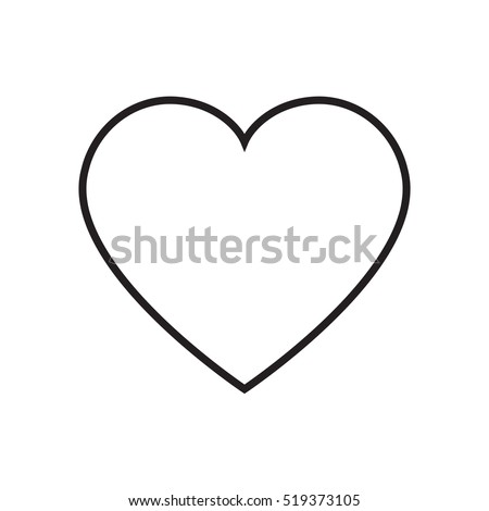 heart outline icon vector stock vector hd royalty free 519373105 rh shutterstock com vector heart outline illustrator vector heart outline png
