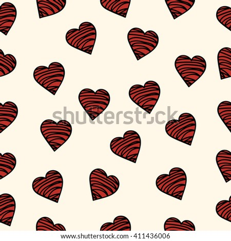 heart pattern, red, bloody, drawn