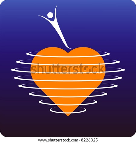 Heart protection - stock vector