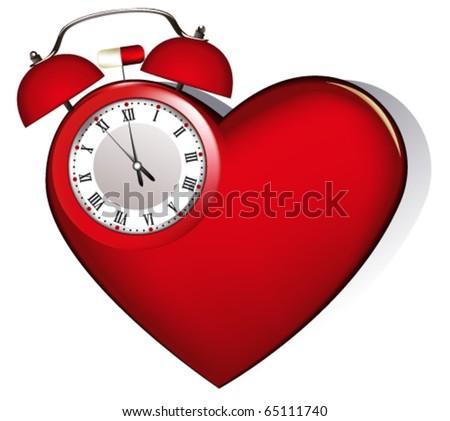 Heart's alarm - stock vector