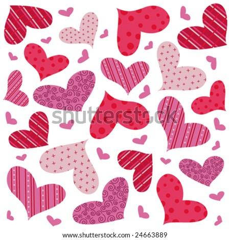 heart seamless pattern vector - stock vector
