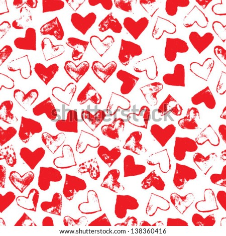 Heart seamless pattern. Vector Illustration - stock vector