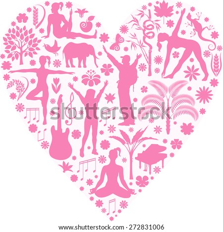 Heart series - stock vector