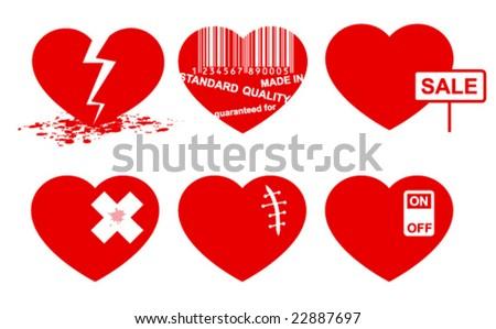 Heart set. - stock vector