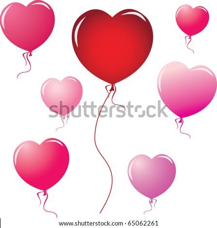 Heart Shape Balloons. design elements - stock vector