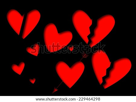 Heart Shape Design Love Symbols Stock Vector 229464298 Shutterstock