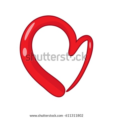 Heart Shape Design Love Symbols Valentines Stock Vector Hd Royalty