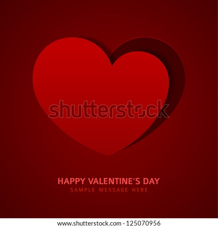 Heart shape from paper vector background. Valentines day. Eps 10.