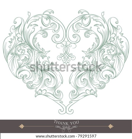 heart shape greeting card