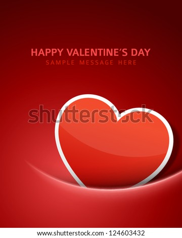 Heart shape vector background. Valentines day. Eps 10.