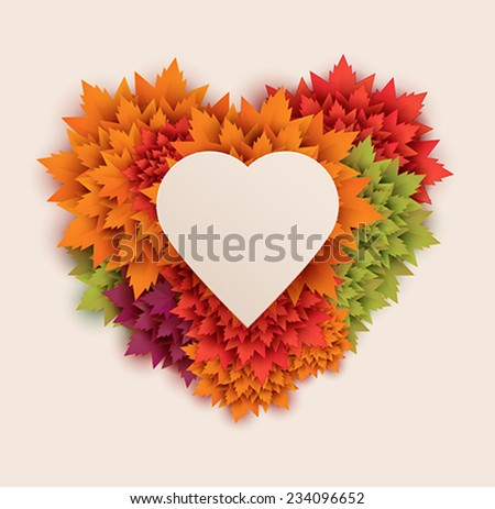 heart shaped background - stock vector