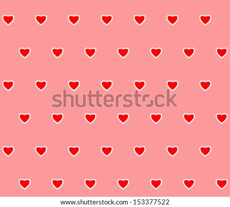 Heart shaped seamless background - stock vector