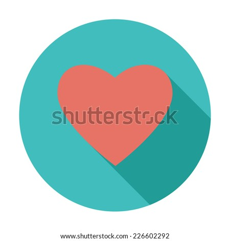 Heart. Single flat color icon. Vector illustration. - stock vector