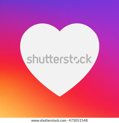 Heart Symbol App Icon On Smooth Stock Photo Photo Vector