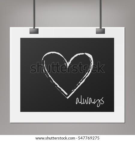 Heart Symbol Love Quote On Dark Stock Vector 547769275 - Shutterstock