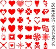 heart symbols collection - stock photo