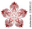 heart tattoo pattern - stock vector