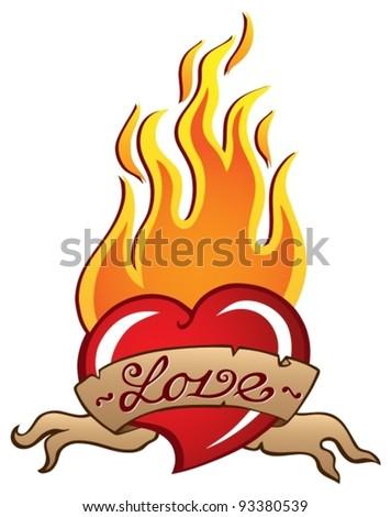Heart theme image 3 - vector illustration. - stock vector