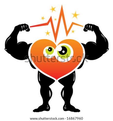 Heart Thunder Illustration - stock vector