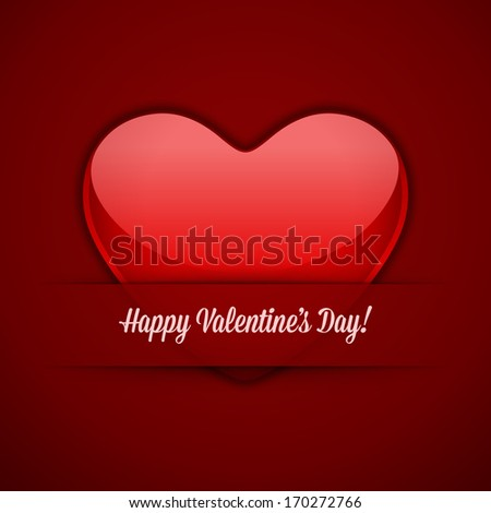 Heart Valentine's day card vector background