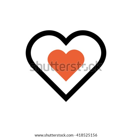 Heart, valentine's day, love line icon. Pixel perfect fully editable vector icon suitable for websites, info graphics and print media. - stock vector