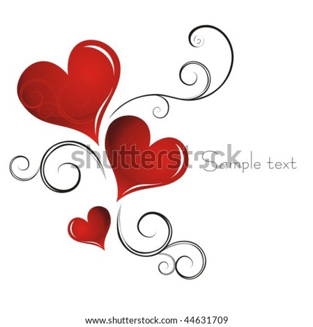 Heart Valentines Day background - stock vector
