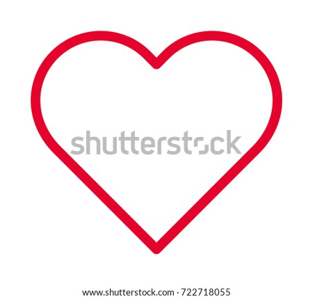 heart vector outline icon stock photo photo vector illustration rh shutterstock com heart vector free download heart vector logo