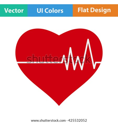 Heart with diagram icon. Heart icon design. Heart icon sign. Heart icon pictogram. Heart icon vector. Heart icon symbol. Heart icon element. Heart icon flat. Heart icon art. - stock vector