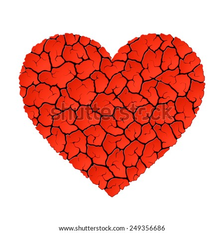 Heart without love concept. Vector. - stock vector