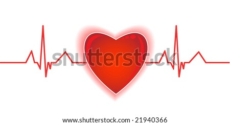 Heartbeat - stock vector