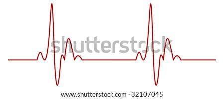 Heartbeat - stock vector