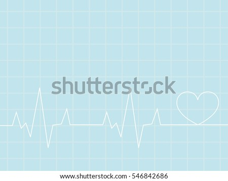 Heartbeat / heart beat pulse flat vector   for medical apps and websites. vector illustration.