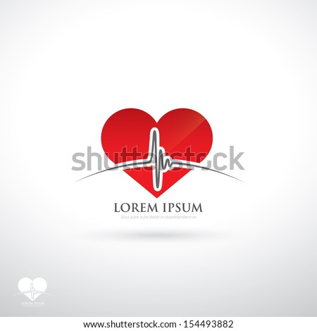 Heartbeat sign - vector illustration - stock vector