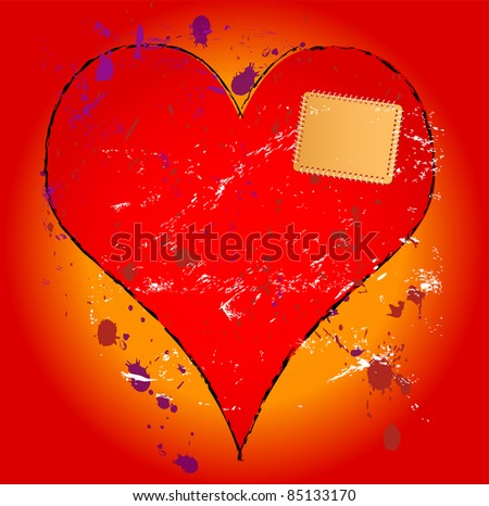 heartbreak illustration, love concept - stock vector
