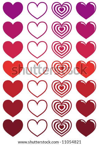 Hearts - stock vector