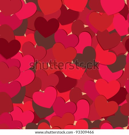 Hearts background. Valentine greeting card. Vector illustration. - stock vector